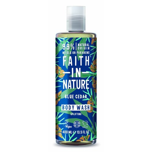 Faith In Nature Body Wash Blue Cedar For Men (400ml)