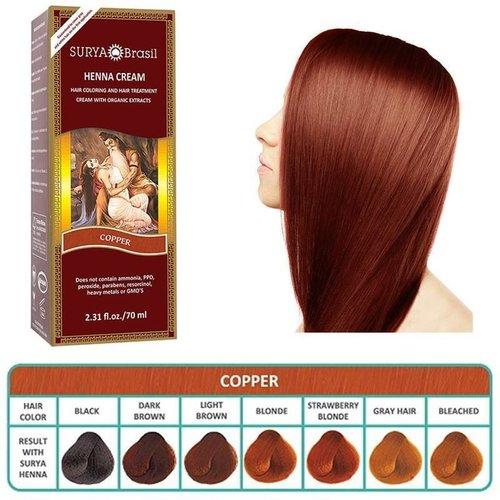 Surya Brasil  Natuurlijke Haarverf Cream -  Copper