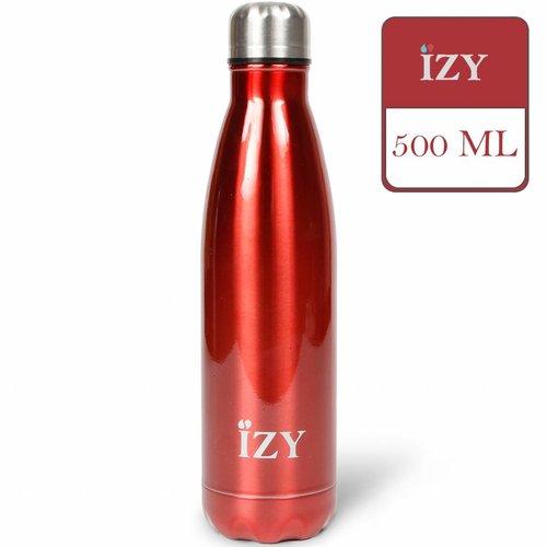 IZY RVS Drinkfles Thermosfles (500ml) - Chrome Red