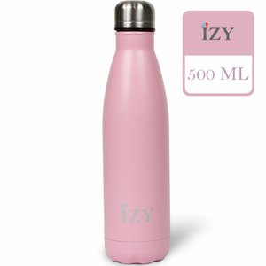 IZY RVS Drinkfles Thermosfles (500ml) - Matte Pink