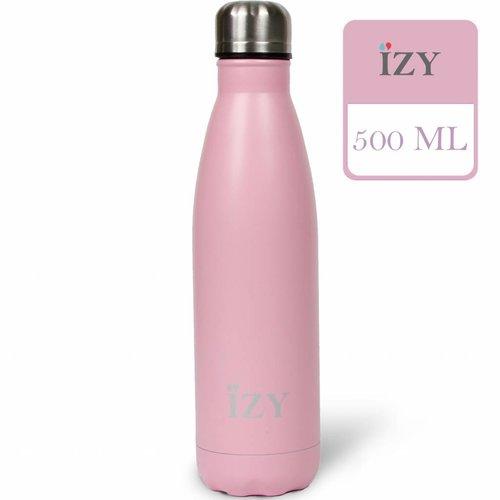 IZY RVS Drinkfles Thermosfles (500ml) - Matte Pink