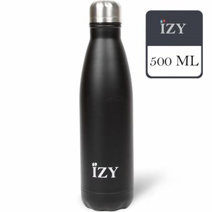 IZY RVS Drinkfles Thermosfles (500ml) - Matte Black