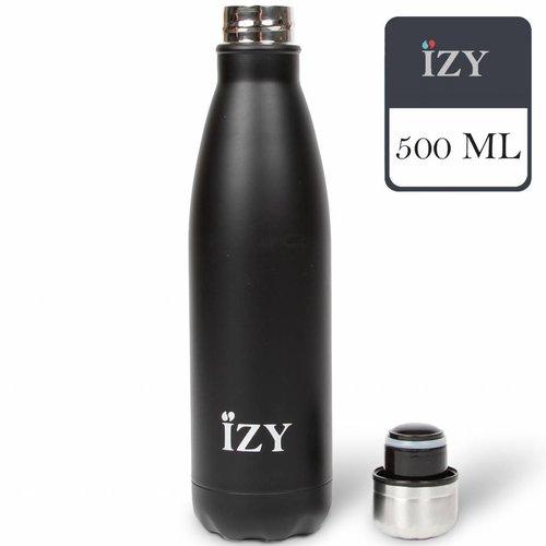 IZY RVS Drinkfles Thermosfles (500ml) - Matte Black