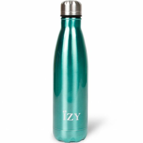 IZY RVS Drinkfles Thermosfles (500ml) - Chrome Blue