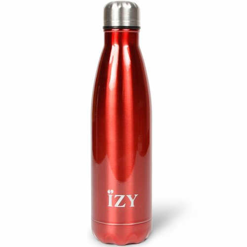 IZY RVS Drinkfles/Thermosfles (500ml) - Chrome Red