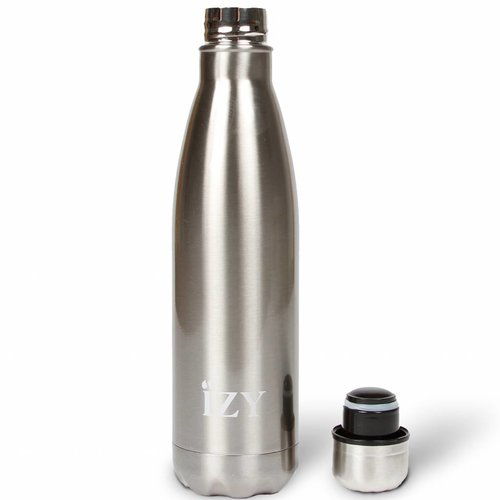 IZY RVS Drinkfles Thermosfles (500ml) - Chrome Silver