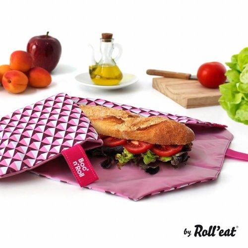 Roll'Eat Boc'n'Roll Foodwrap - Tiles Pink