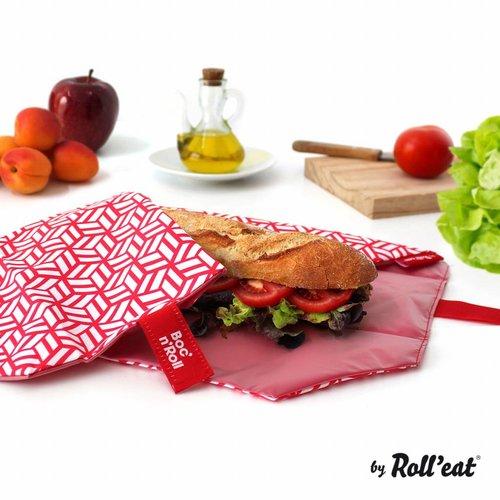 Roll'Eat Boc'n'Roll Foodwrap - Tiles Red