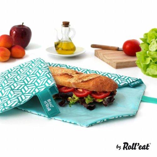 Roll'Eat Boc'n'Roll Foodwrap - Tiles Green