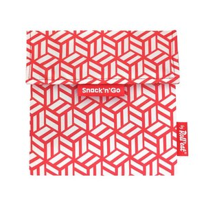 Roll'Eat Snack'n'Go Reusable sandwich bag - Red Tiles