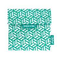 Snack'n'Go Herbruikbaar Boterhamzakje - Tiles Green