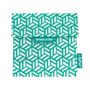 Roll'Eat Snack'n'Go Reusable Sandwich bag - Green Tiles