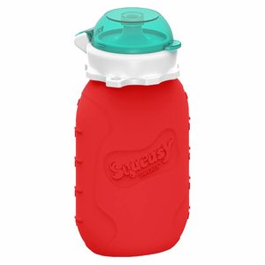 Squeasy Gear Silicone Squeeze Bottle 180ml - Red