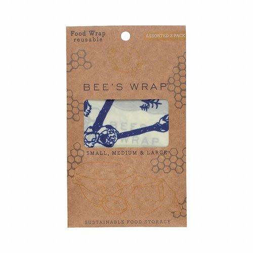 Bee's Wrap Bijenwas Doekjes (S/M/L)- Bears & Bees (3 Stuks)