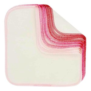 ImseVimse Make Up Reusable Cloth Wipes - Pink Trim