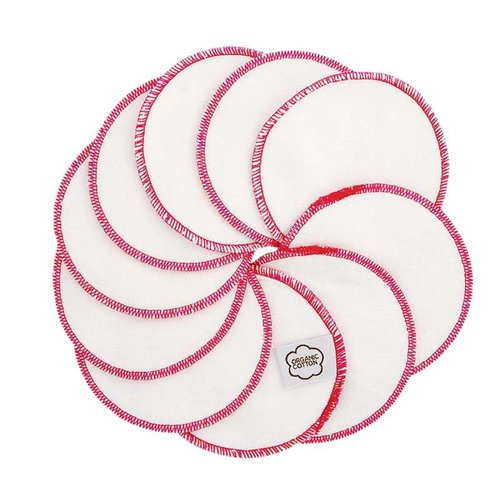ImseVimse Washable Cotton Pads - Pink Trim