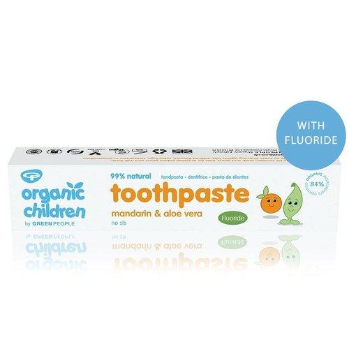 Green People Organic Children Toothpaste - Mandarin & Aloe Vera Met Fluoride