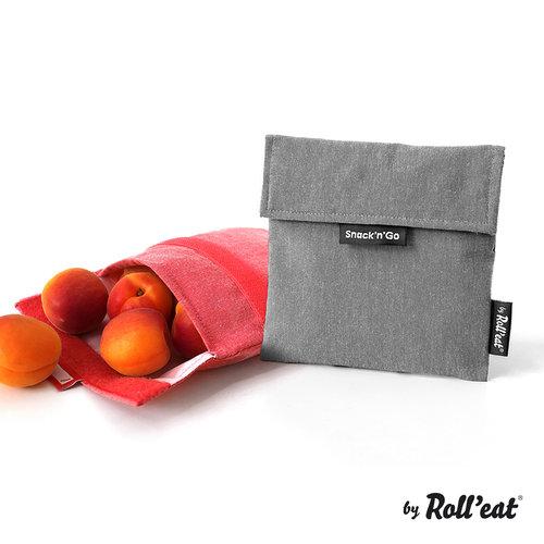 Roll'Eat Snack'n'Go Herbruikbaar Boterhamzakje - Nature Black