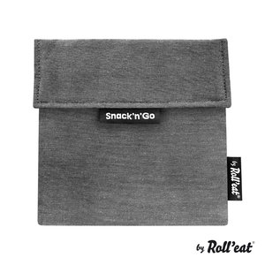 Roll'Eat Snack'n'Go Reusable Sandwich Bag - Eco Black