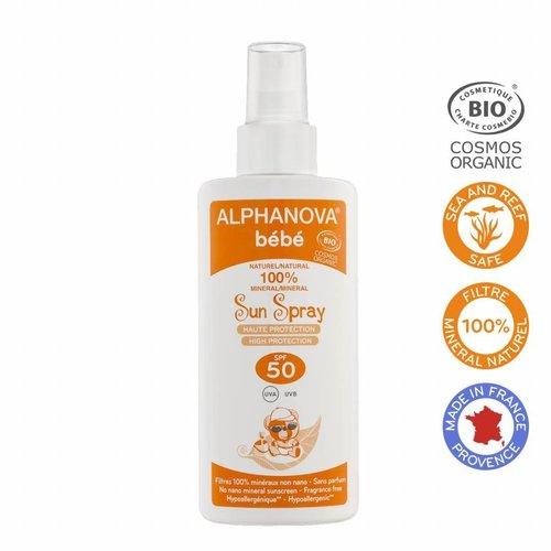 Alphanova Sun Bio Baby Zonnebrandspray SPF 50 (125g)