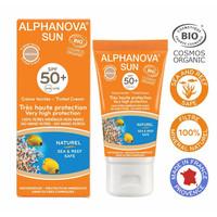 Organic Tinted Sunscreen Cream Face Medium - SPF50
