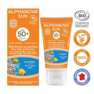 Alphanova Sun Organic Tinted Sunscreen Cream Face Medium - SPF50