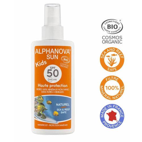 Alphanova Sun Organic Sunscreen Spray Kids 125g - SPF 50