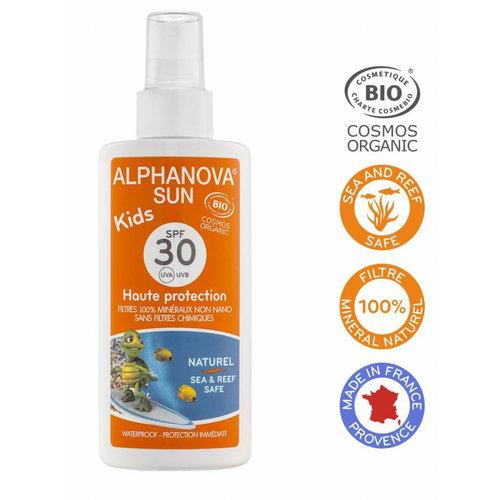 Alphanova Sun Organic Sunscreen Spray Kids 125g - SPF 30