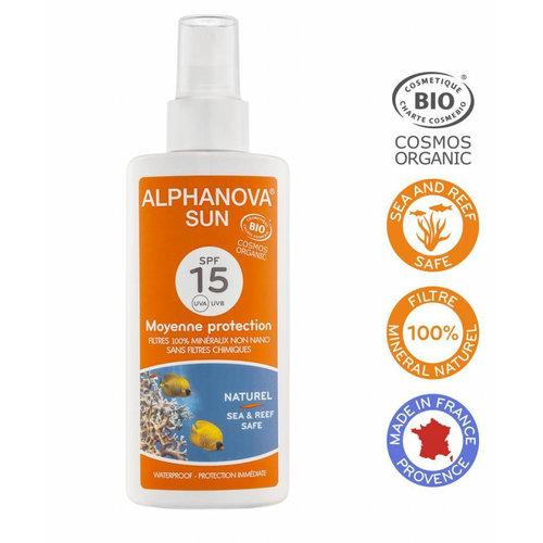 Alphanova Sun Bio Zonnebrandspray 125g - SPF 15