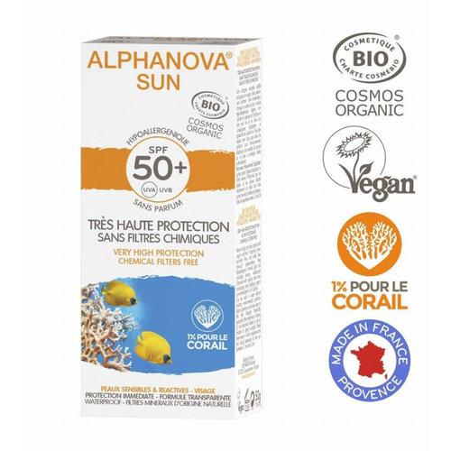 Alphanova Sun Organic Sunscreen Cream Face - SPF50