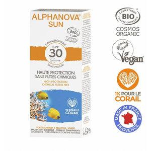 Alphanova Sun Bio Zonnebrandcreme Gezicht - SPF30