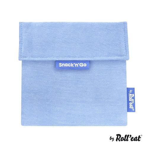 Roll'Eat Snack'n'Go Herbruikbaar Boterhamzakje - Eco Blue