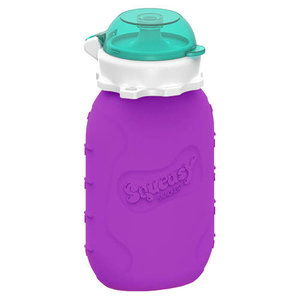 Squeasy Gear Silicone Squeeze Bottle 180ml bag - Purple