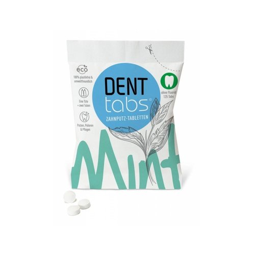 Denttabs Toothbrushing Tablets - Without Fluor