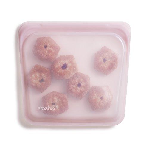 Stasher Herbruikbare Siliconen Zak Medium - Rose Quartz