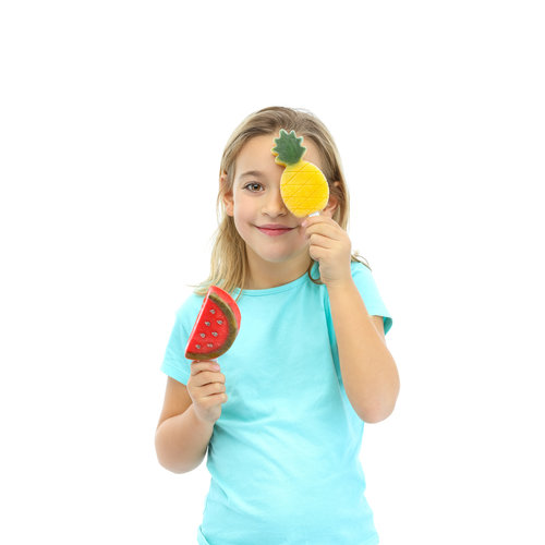 Siliconen Ijsvormpjes (4st) - Ananas & Watermeloen