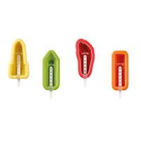 Siliconen Ijsvormpjes (4st)  - Potlood, Voet, Raket en Twister
