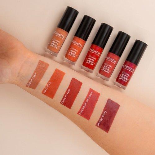 Benecos Natural Liquid Lipstick  Matte - Rosewood Romance