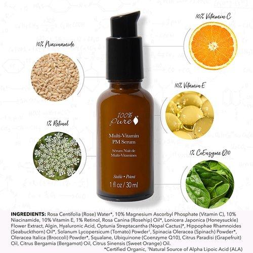 100% Pure Multi-Vitamin + Antioxidants Potent PM Serum