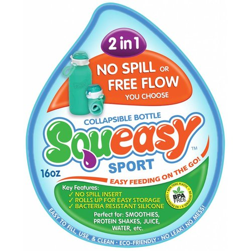 Squeasy Gear Sport Bottle Aqua 440 ml - Blauw