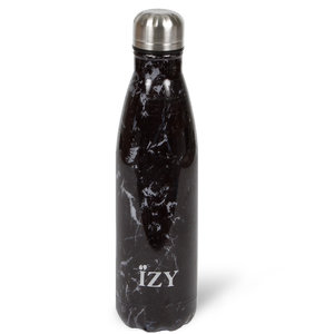 IZY RVS Drinkfles Thermosfles (500ml) - Black Marble