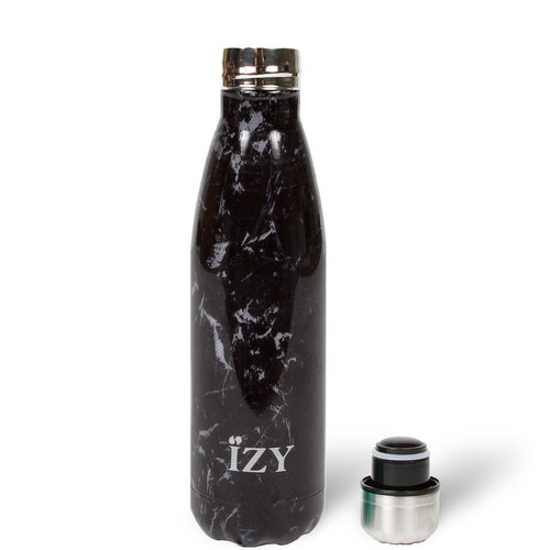 IZY RVS Drinkfles Thermosfles (500ml) - Black Marble
