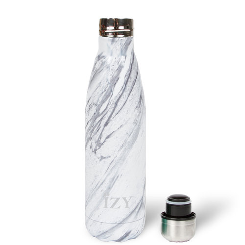 IZY RVS Drinkfles Thermosfles (500ml) - White Marble
