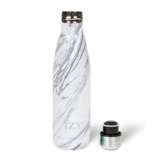 IZY RVS Drinkfles Thermosfles (500ml) - White Marble