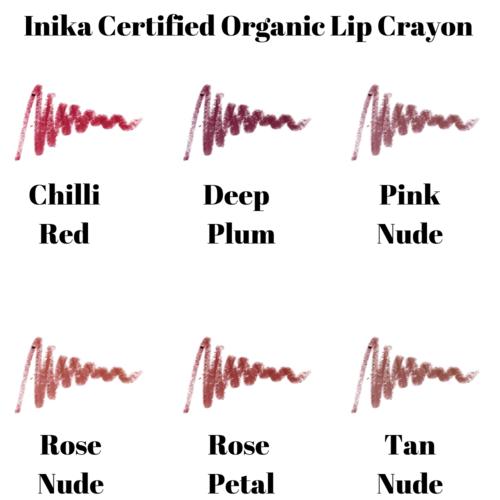 Inika Certified Organic Lip Crayon (Meerdere Kleuren)