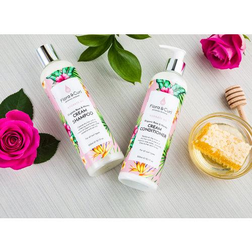 Flora & Curl Organic Rose & Honey Cream Conditioner