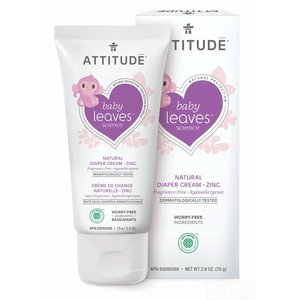 Attitude Natural Diaper Cream Zinc