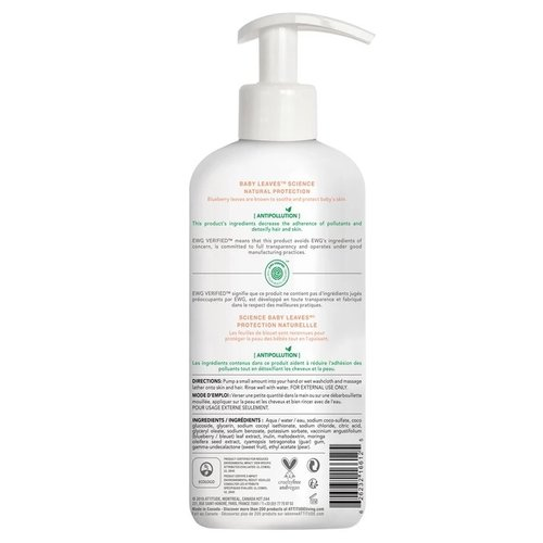 Attitude Baby Leaves Bubble Wash - Pear Nectar