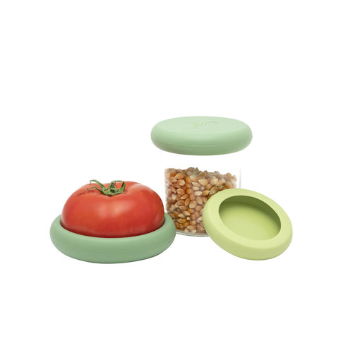 Food Huggers Set of 3 Big Food Huggers - Soft Greens