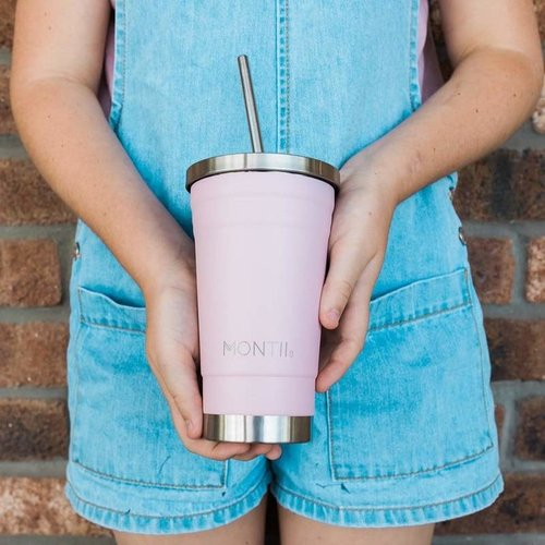 MontiiCo Stainless Steel Smoothie Cup - Pink
